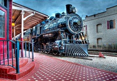 Fundo Fotografico - Locomotiva Cena 9 ( 1,40 x 2 metros)