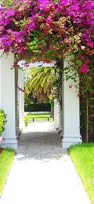 Fundo Fotografico - Portão de Flores  ( 1,60 x 3 metros)