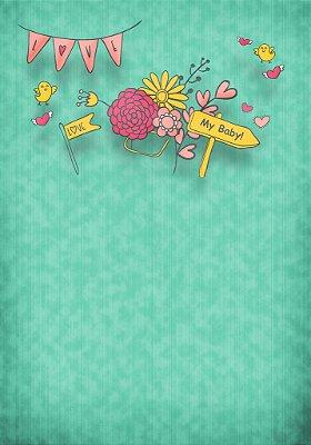 Fundo Fotografico - Floral Baby 2 (1,40 x 2 metros)