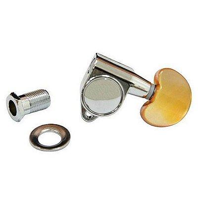 Jogo de tarraxas Crafter  luxo blindadas para violão com ponteira dourada MH-DAC 300