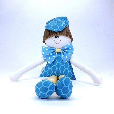 Boneco Sulo Moderninho de Gravata Coleção Tiffany Azul Turquesa