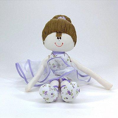 Bailarina Média Floral Lilás