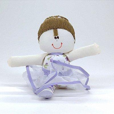 Bailarina Pequena Floral Lilás