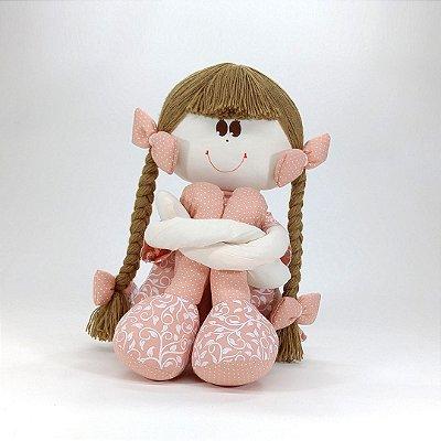 Boneca Sula Grande Coleção Rosê Chic Salmão