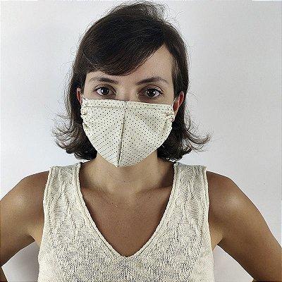 Máscaras De Proteção Duplas, 100% Algodão, 50 Unidades.