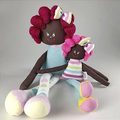 Kit 02 bonecas de pano Sulas