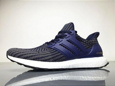 60083e029d364 Tênis Adidas Ultraboost 4.0 Masculino - Cinza e Azul zoom