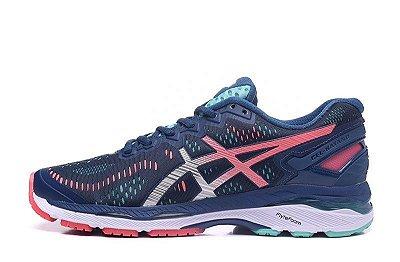 Tênis Asics Gel Kayano 23 - Feminino - Azul e Verde - Shoes Hub ... cb9fa30834e2a