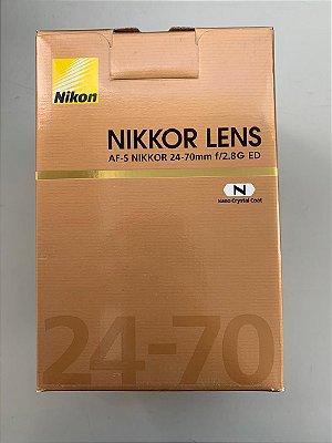 Lente Nikon 24-70mm 2.8 nova