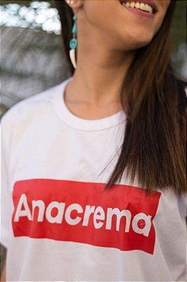 "Camiseta Anacrema Festival ""Supreme"" Branca"