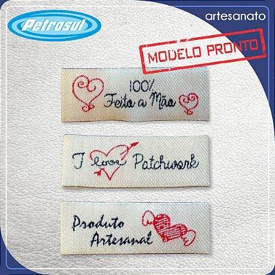Etiquetas bordadas para Artesanato - Pronta Entrega