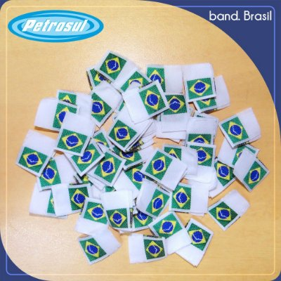 Etiqueta bordada Brasil (Band)
