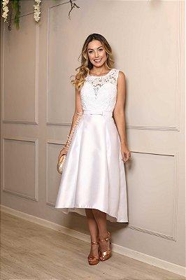 Vestido noiva curto zibeline