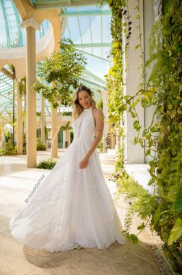 Vestido de noiva longo chiffon e renda, pre wedding, batizado