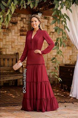 Vestido de festa longo camadas botão, formatura, madrinha de casamento, anivesrário