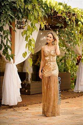 Vestido de festa longo com tule com renda, festa de casamento, formatura, aniversário