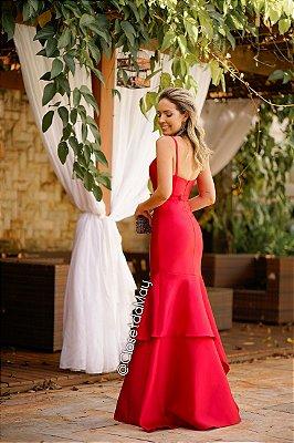 Vestido de festa de zibeline de camadas, madrinha de casamento, aniversário, formatura.