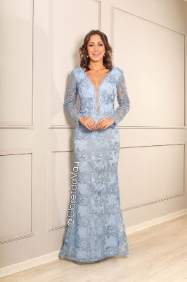 vestido de festa longo, tule bordado, com bojo, decote em V tule, para madrinhas, convidados, formando