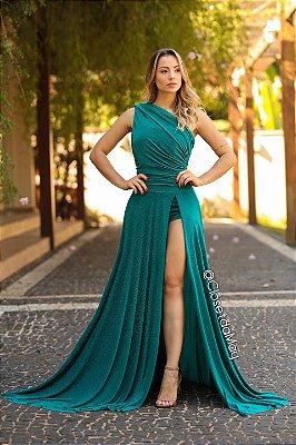 vestido de festa longo, manga nula, com fenda, lurex, para madrinhas, convidadas, formanda
