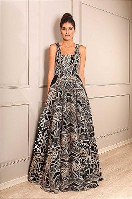 vestido de festa longo, tule bordado, com bojo, com fenda, para madrinhas, convidados, formanda