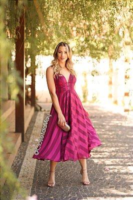 vestido de festa midi tiras, saia fluida, para convidadas, aniversariantes.