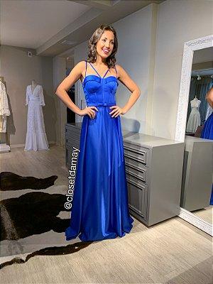 vestido de festa longo alça, com cinto, bojo, para madrinha, convidada, formanda