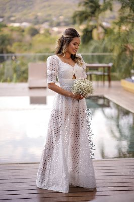 vestido de noiva longo manga, lese, com bojo, hot pants, para casamento, pre wedding