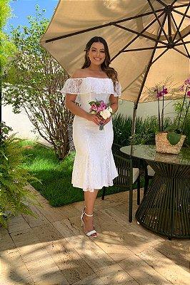 vestido de noiva, ombro a ombro para noivinhas, casamento civil ou pré wedding