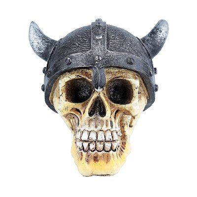 Caveira Viking em Resina - 9 cm