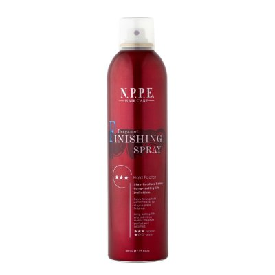 Bergamot Finishing Spray 380mL (forte fixação com brilho)