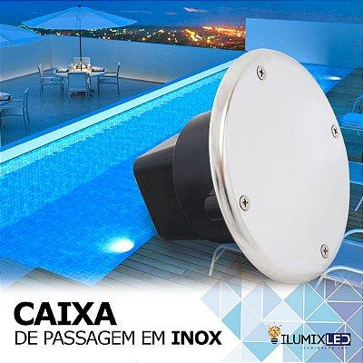 CAIXA DE PASSAGEM INOX | para embutir | Resistente à Água IP65