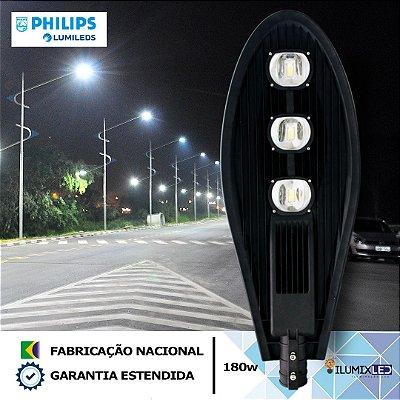 Luminária LED para Poste 180w | 21.600 Lúmens | LEDs PHILIPS | Resistente à Água IP66