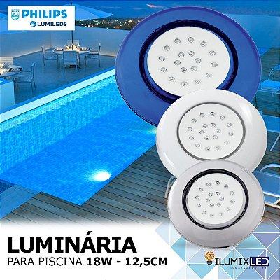 LUMINÁRIA LED PARA PISCINA - 18w | POLICARBONATO | À prova d'água | LED PHILIPS