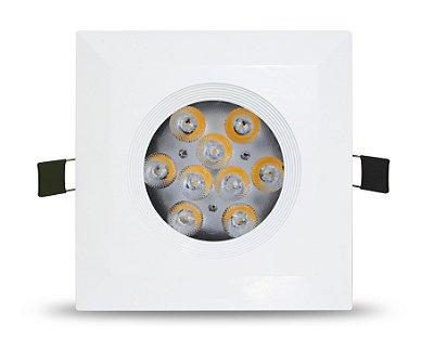 SPOT DE EMBUTIR 9W - Foco de luz: 45º - Bivolt
