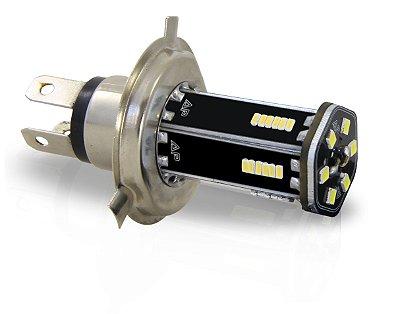 PAR de Lâmpadas LED Automotiva - H4 - 12v - 1.200LM - Branco Frio