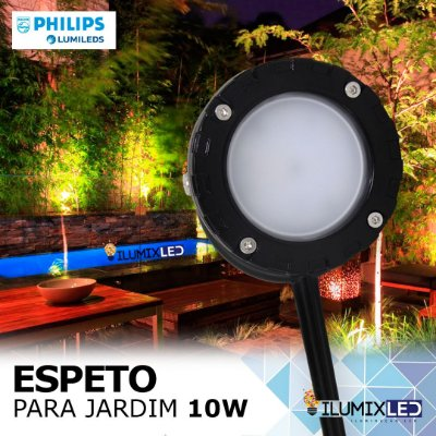 ESPETO DE JARDIM 10W | Foco 90º | Resistente à água | LED PHILIPS
