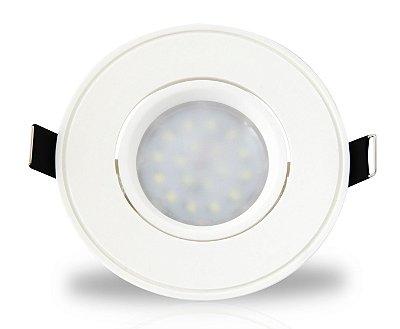 Spot para embutir com Dicróica LED 4w | Bivolt | Redondo 85mm | Uso Interno