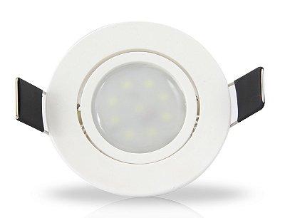 Spot para embutir com Mini Dicróica 2w |Bivolt | Redondo 62mm | Uso Interno