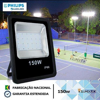 REFLETOR SLIM LED 150w  | LED PHILIPS | 18.000 Lúmens | LINHA ALTA POTÊNCIA