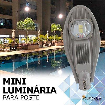 Mini Luminária LED para poste 50w | 5.000 Lúmens | LEDs PHILIPS | Para Rua ou Condomínio