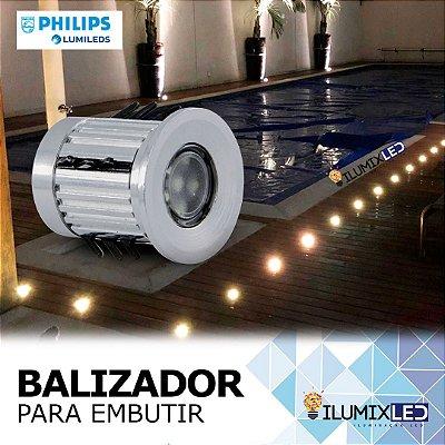 BALIZADOR LED 0,5W Para Embutir | Foco 150º | Resistente à Água IP65 | LED PHILIPS