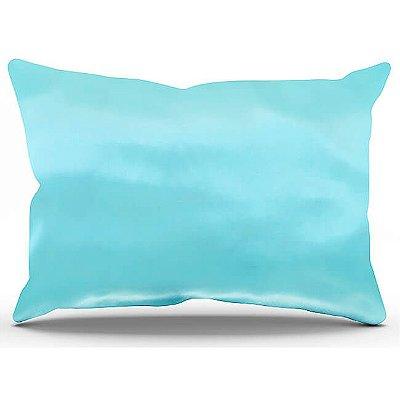 Fronha de Cetim Antifrizz Azul Piscina - Turban