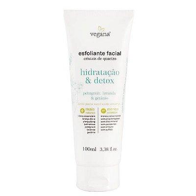 Vegana Esfoliante Facial Hidratação e Detox 100mL - WNF