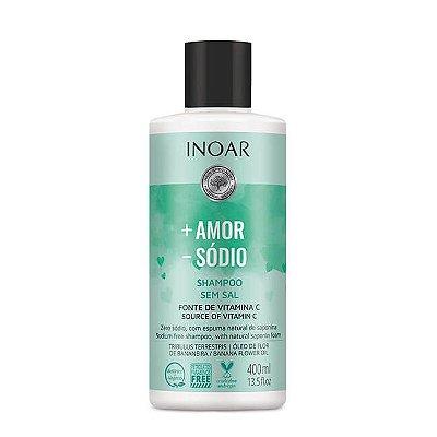 Shampoo + Amor - Sódio 400mL - Inoar