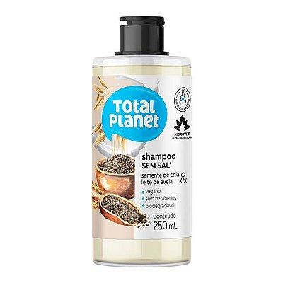Shampoo Sem Sal Semente de Chia e Leite de Aveia 250 mL- Total Planet