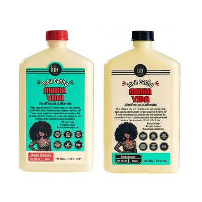 COMBO Meu Cacho Minha Vida DUO - Shampoo Hidratante 500ml + Condicionador 500g - Lola Cosmetics