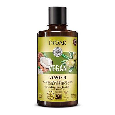 Vegan Leave-In/Creme para Pentear e Protetor Antitérmico Vegano 300ml - Inoar