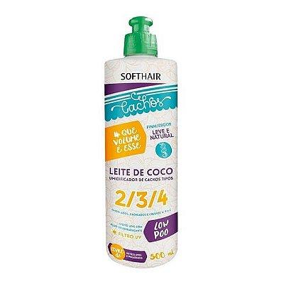 Umidificador Leite de Coco Cachos #Que Volume é Esse - Soft Hair - 500ml
