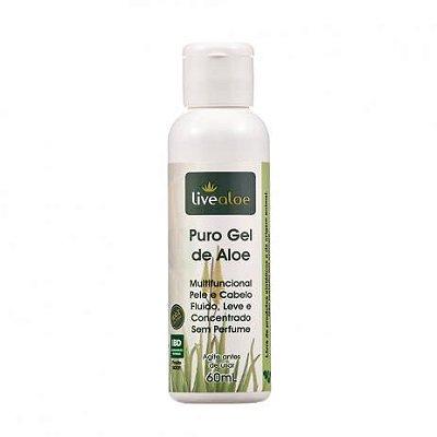 Puro Gel de Aloe - Multifuncional Pele e Cabelo Livealoe - 60ml