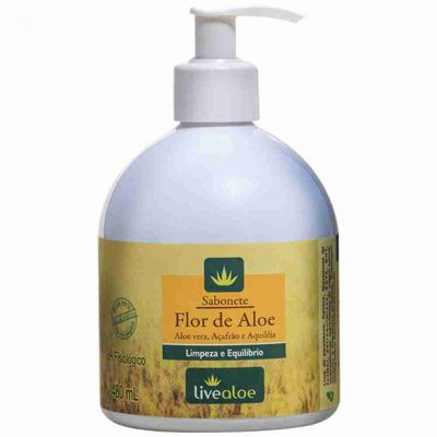 Sabonete Flor de Aloe Livealoe - 480ml
